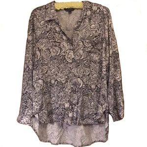 Rock & Republic High-low hem floral blouse XL